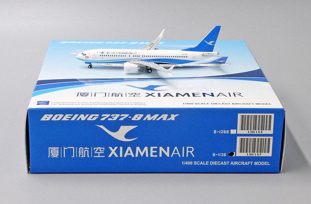 //LAST// Xiamen Airlines B737-8MAX Reg: B-1136 JC Wings  1:400 Diecast LH4109