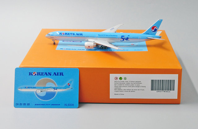 Korean Air B777-300ER Reg: HL8008 FLAPS DOWN 1:400 Diecast EW477W002A