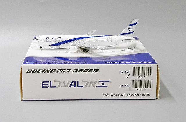 El Al Israel Airlines B767-300ER Reg: 4X-EAJ JCwing1:400 Diecast models XX4157