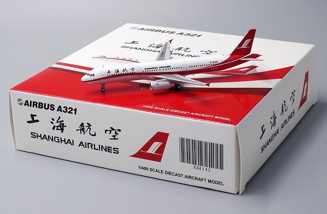 Shanghai Airlines A321-200 Reg: B-6642 JC Wings Scale 1:400 Diecast model XX4142