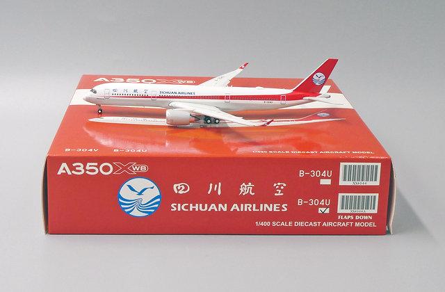 Sichuan Airlines A350XWB Flaps Down B-304U JC Wings 1:400 Diecast Model XX4044A