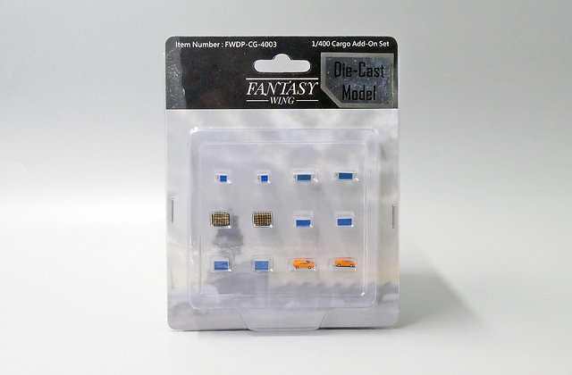 Diecast Cargo add-on Set (Set of 12) Scale 1/400 Fantasywings FWDP-CG-4003