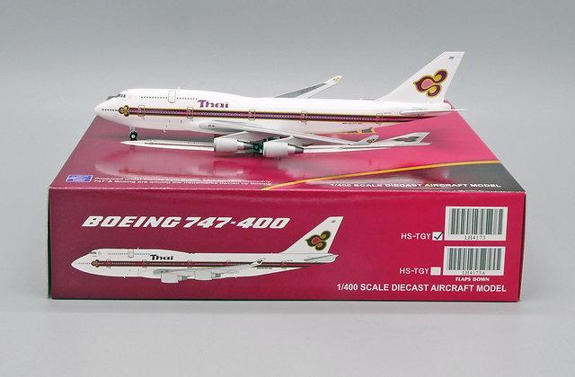 Thai Airways B747-400 Reg: HS-TGY Scale 1:400 JC Wings Diecast model LH4173