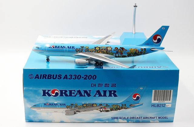 /LAST/ Korean Air A330-200 HL8212 SPECIAL JC Wings 1:200 Diecast Models LH2085
