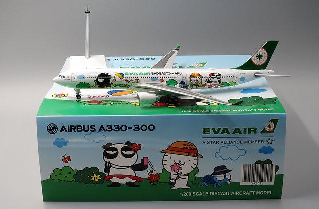 "Eva Air A330-300 Special "" Bad Badtz-Maru "" JC Wings 1:200 Diecast Models XX2036"