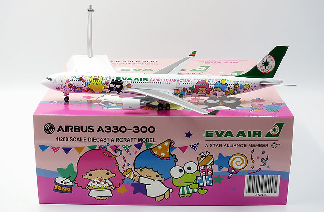 "Eva Air A330-300 Special "" Cartoon"" B-16333 JC Wings 1:200 Diecast Models XX2155"