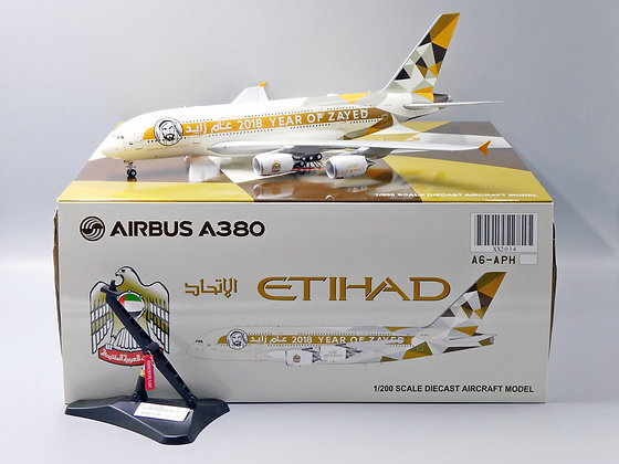 Etihad A380 Reg: A6-APH Year of Zayed JC Wings 1:200 Diecast Models XX2034