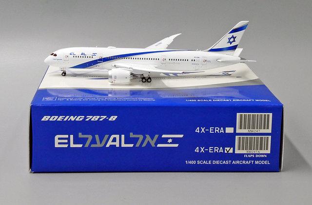 EL AL B787-8 Reg: 4X-ERA JC Wings Scale 1:400 Diecast model Flaps Down XX4247A