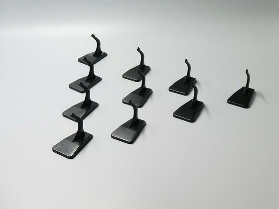 Black Plastic Display Stand for 1:400 Diecast Model Airplanes 10 set bundle