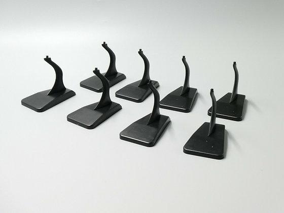 Black Plastic Display Stand for 1:400 Diecast Model Airplanes 8 set bundle