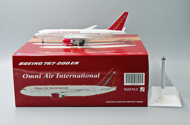 Omni Air International B767-200ER Reg: N207AX JC Wings 1:200 Diecast XX2328