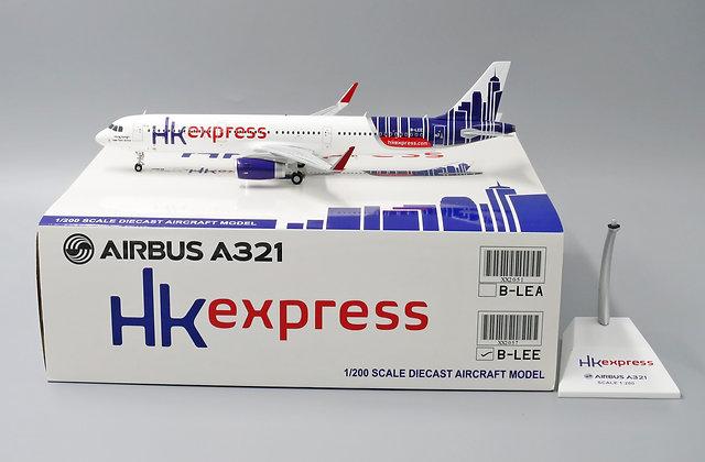Hong Kong Express A321 Reg: B-LEE JC Wings 1:200 Diecast Model XX2057