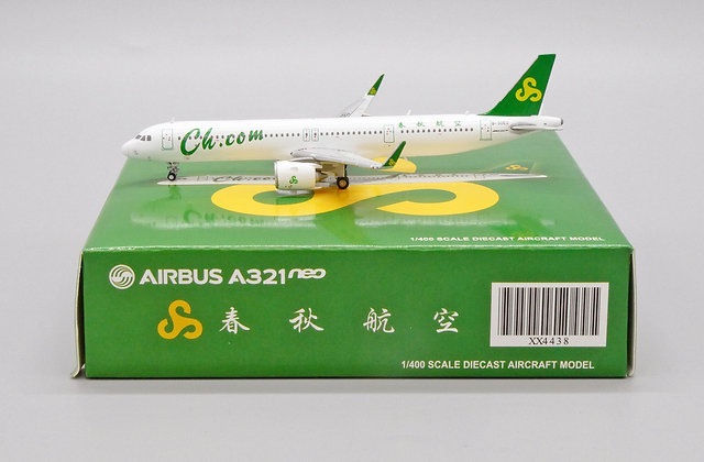 Spring Airlines A321neo Reg: B-30EU Scale 1:400 JC Wings Diecast Model XX4438