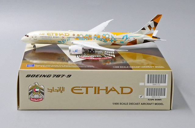 Etihad B787-9 Choose Saudi Arabia Flap down A6-BLI JCWings 1:400 Diecast XX4212A