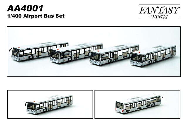 Airport Passenger Bus Cobus3000 Scale 1/400 (4in1 Set) Fantasywings AA4001