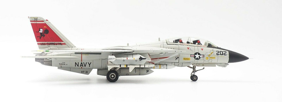 US Navy F-14A VF-31 Tomcatters Calibre Wings Scale 1:72 Diecast model CA721412