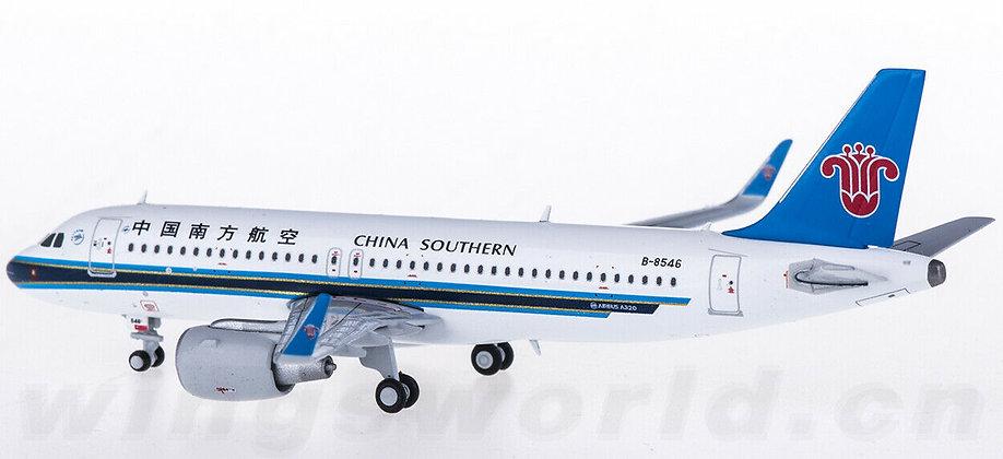 China Southern A320 Reg: B-8546 JC Wings 1:400 Diecast Models KD4678