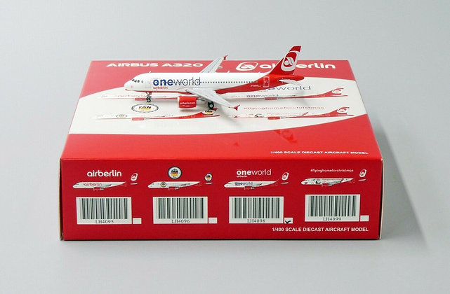 Airberlin A320 Reg: D-ABHO JC Wings Scale 1:400 Diecast LH4098