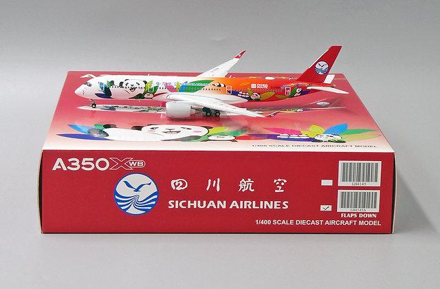 SICHUAN Airlines A350XWB Reg: B-306N JC Wings 1:400 Flaps Down Diecast LH4145A