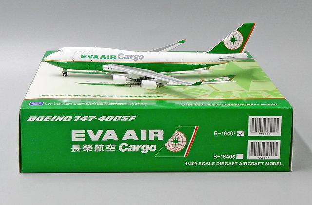 EVA Air Cargo B747-400SF Reg: B-16407 Scale 1:400 JC Wings Diecast model XX4177