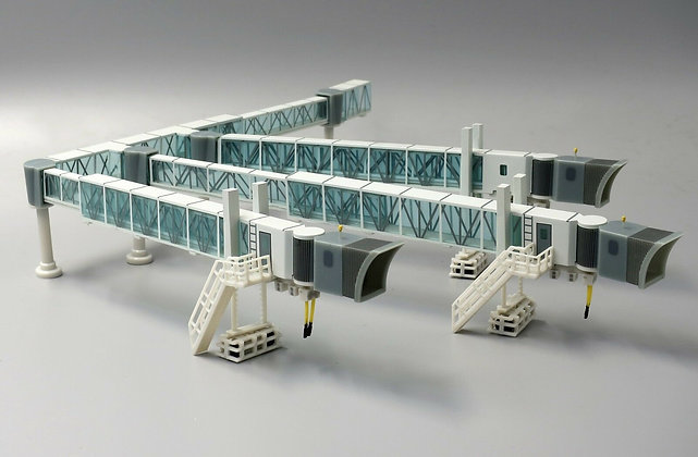 SPECIAL OFFER 1:200 Airport Passenger Bridge and KLM GSE set LH2090+XX2022