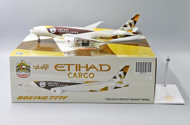 Etihad Cargo B777F Reg: A6-DDE JC Wings Scale 1:200 Diecast Model XX2137
