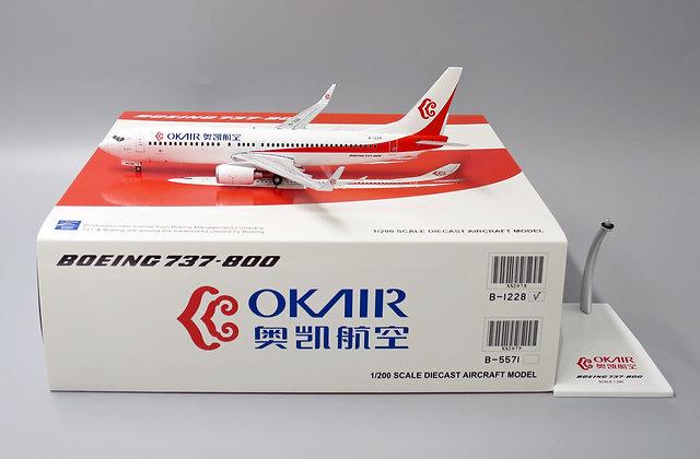 OK Air B737-800 Reg: B-1228 Scale 1:200 Diecast Model JC Wings XX2078