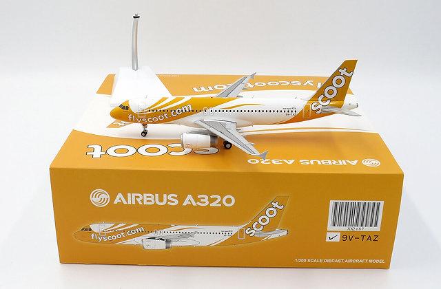 Scoot Airbus A320 Reg: 9V-TAZ JC Wings 1:200 Diecast XX2187