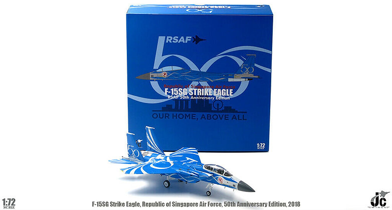 """Singapore Air Force RSAF F-15 Special """" 50th """" Scale 1/72 JCW-72-F15-007"""