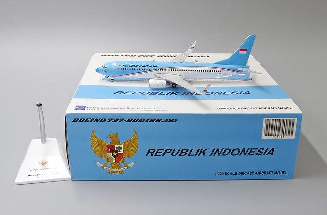 Indonesia Air Force B737-800(BBJ2) Reg:A-001 JC Wings 1:200 Diecast LH2197