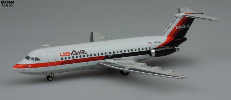 //LAST//US Air BAC111-204 Reg:N1127J Scale 1:200 Diecast Model JC2180