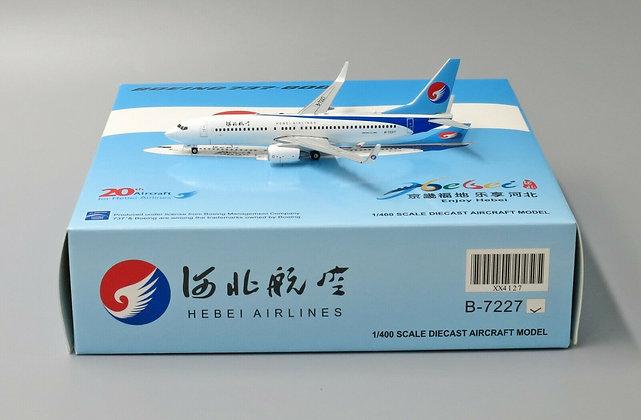 Hebei Airlines B737-800 Reg: B-7227 JC Wings Scale 1:400 Diecast Models XX4127