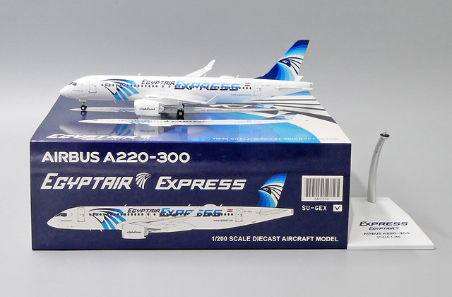 EgyptAir Express A220-300 Reg: SU-GEX JC Wings Scale 1:200 Diecast Model LH2230