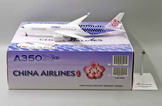 China Airlines A350-900 B-18918 FLAP DOWN Scale 1:200 JC Wings Diecast XX2141A