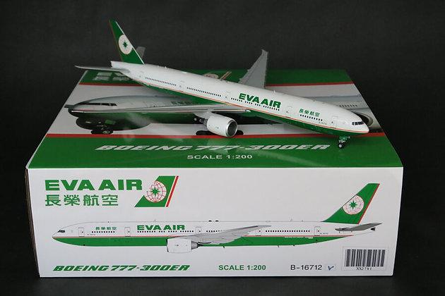 "/LAST/ Eva Air B777-300ER ""OC"" B-16712 JC Wings 1:200 Clearance SALE XX2781"