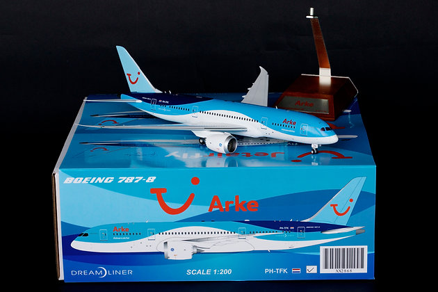 Arke Boeing 787-8 Dreamliner Reg: PH-TFK JC Wings 1:200 Diecast Models XX2868