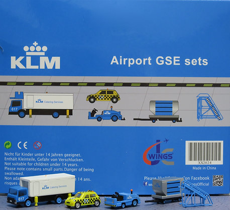 KLM GSE set JC 1:200 Airport Scenic Series Ground Services Equipment XX2024