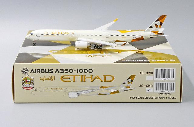 Etihad Airways A350-1000 FLAPSDOWNA6-XWB JC Wings Scale 1:400 Dicast  XX4175A