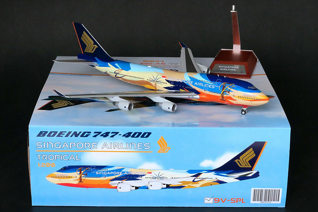 LAST/Defective Models/ Singapore Airlines 747-400 Tropical  9VSPL 1:200 BBOX2522