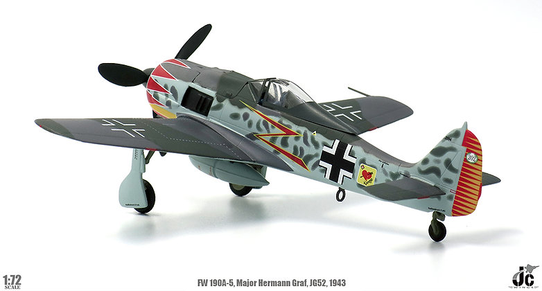 Fw190A-5, German Air Force, Major Hermann Graf, JG52, 1943 1/72 JCW-72-FW190-001