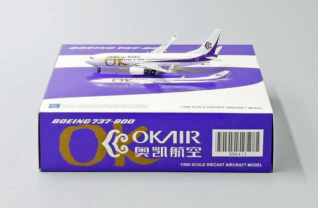 OKAIR B737-800 Reg: B-5367 JC Wings Scale 1:400 Diecast Model XX4413