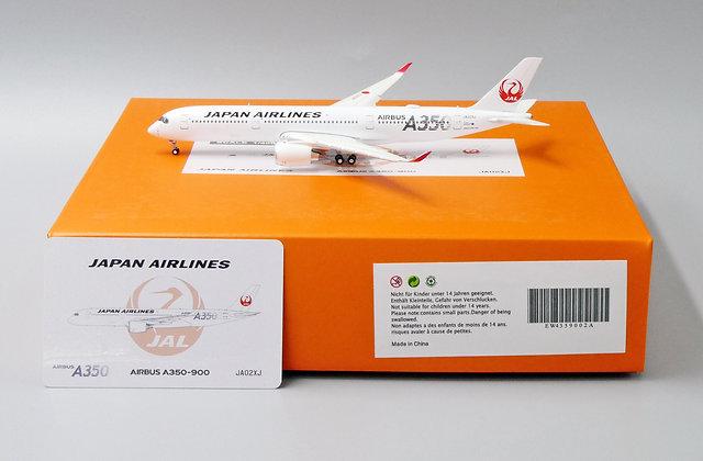 Japan Airlines A350-900 Reg: JA02XJ JC Wings 1:400 Diecast Flaps Down EW4359002A