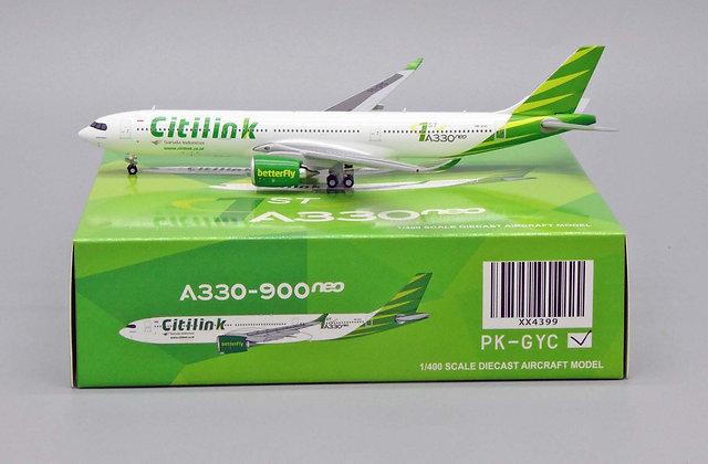 Garuda Indonesia Citilink A330-900neo Reg: PK-GYC JC Wings Scale 1:400 XX4399
