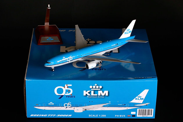 "/LAST/ KLM B777-200ER Reg: PH-BQB ""95th"" JC Wings 1:200 Diecast XX2346"