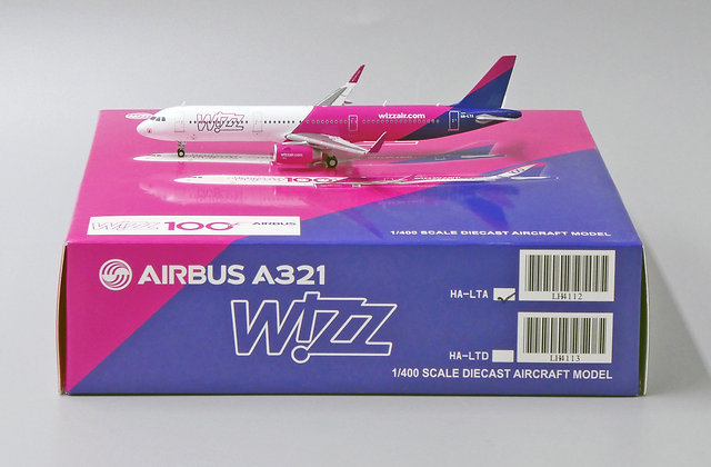 W!ZZ Air A321 Reg: HA-LTA Scale 1:400 JC Wings Diecast Model LH4112 Rare!!