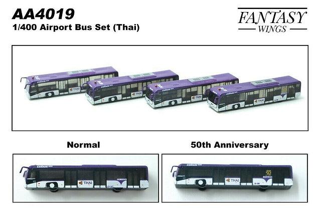 Airport Passenger Cobus3000 Thai Airways 1/400 (4in1 Set) Fantasywings AA4019