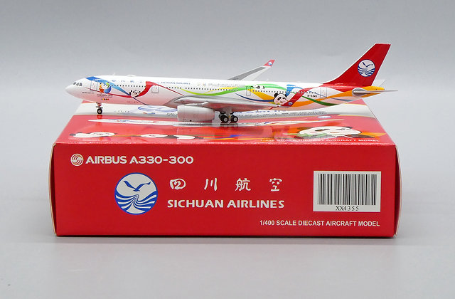 Sichuan Airlines A330-300 Reg: B-5945 JC Wings Scale 1:400 Diecast model XX4355