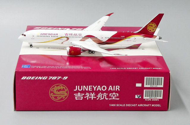 Juneyao Air B787-9 Reg: B-207N Flap Down Version JC Wings Diecast 1:400 XX4148A