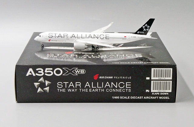 Air China A350-900  B-308M FLAPS DOWN JC Wings Scale 1:400 Dicast Model XX4174A