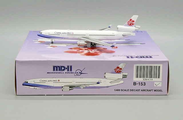 China Airlines MD-11 Reg: B-153 JC Wings Scale 1:400 Diecast Model XX4439